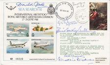 C88cK RAF Greenham Common Signed 5 Battle of Britain Pilots