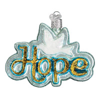 """Hope"" (36211)X Old World Christmas Glass Ornament w/OWC Box"