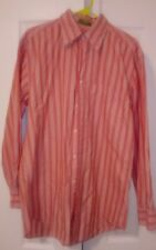 Orvis Mens Button Down Size Medium Striped Long Sleeve