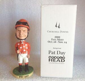 Pat Day Churchill Downs Race Track Promotional 2001 Bobble Bobblehead SGA