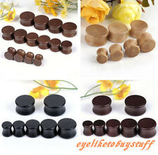 Pick Natural Organic Wood Double Flared Saddle Ear Plugs Tunnel Expander Gauge