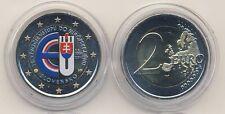 Commémorative 2014 Slovaquie 10 Ans Entrée pour UNION EUROPÉENNE COULEUR