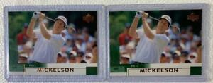 """TWO (2) 2002 UPPER DECK GOLF PHIL """"LEFTY"""" MICKELSON ROOKIE CARDS #41"""