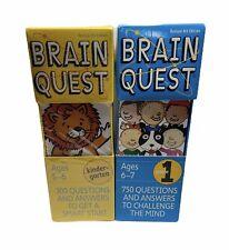 Brain Quest Grades Kindergarten & 1st Questions and Answers Decks Flash Cards