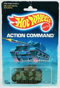 Hot Wheels Command Tank Action Command Series #9371 New NRFP 1986 Olive 1:64