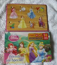 disney princess find and fit storybook with 8 puzzle pieces bedtime reading
