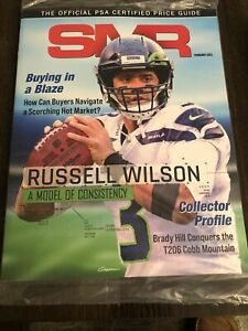 Sports Market Report (SMR) PSA Guide February 2021 Russell Wilson Cover Sealed