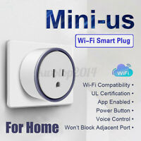 Mini WiFi Smart Voice Remote Control Timer Switch Power Socket Outlet US
