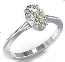 Diamond Engagement Ring .925 Silver Ring 3.02+ Ct Oval Near White Moissanite