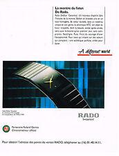 PUBLICITE ADVERTISING 035  1994  RADO  montres partenaire ROLAND GARROS DIASTAR