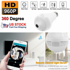960P HD 1.3MP DVR 360° WiFi Camera Bulb Light Smart Security Wireless Fisheye aw
