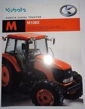 *Kubota Dealers M108X Diesel Tractor Sales Brochure literature ad advertising