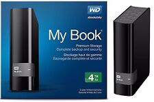 WD Western Digital 4TB MY BOOK External Hard Drive WDBFJK0040HBK WDBBGB0040HBK