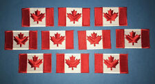 10 Lot Iron On Canadian Canada Flag Biker Vest Hat Backpack Travel Patches E