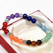 NEW 7 Chakra Healing Balance Beads Bracelet~Natural Stones~ Includes Gift Bag