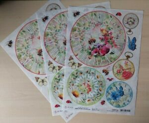 Ciao Bella Rice Papers x 3 - NEW - Microcosmos Clocks - CBRP124