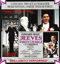 "Edward Duke ""JEEVES TAKES CHARGE"" P. G. Wodehouse 1987 Wyndham's London Flyer"