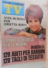 TV SORRISI E CANZONI 12 maggio 1968 Guinness Orietta Berti Celentano Camaleonti