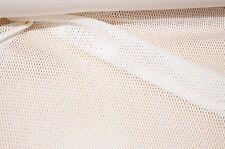 italienischer Netzstoff kleine Waben wollweiss Kleiderstoff Dekostoff #0543