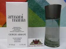 ARMANI MANIA BY EMPORIO ARMANI EDT 1.7OZ/50ML POUR HOMME SPRAY TE3TER IN BOX