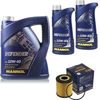 Ölwechsel Set 7L MANNOL Defender 10W-40 Motoröl + SCT Filter KIT 10199422