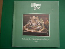 LILLIPUT LANE  -  1996 Katalog book (68 pages) - as new in GERMAN and RARE FIND