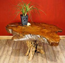 Couchtisch Massiv Teak Wurzelholz massiver Holz Couch Tisch Wohnzimmer Tisch NEU