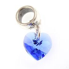 Zafiro colgante Corazón cristal / cuenta - con Swarovski Elements