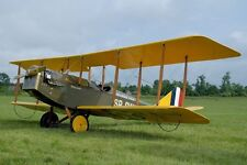 Curtiss JN-4 Jenny Biplane Trainer Aircraft Mahogany Wood Model Replica Large