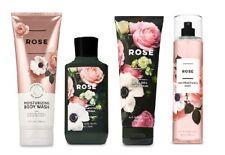 4 Pc Bath & Body Works Rose Gift Set- Fragrance Mist, Body Wash, Cream & Lotion