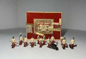 CBG MIGNOT PRE WAR CORVEE TOY SOLDIERS LABORERS SET ORIGINAL BOX