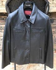 HUDSON Leather Black Coat Jacket Women's Sz M