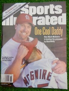 """MARK McGWIRE Cardinals Sports Illustrated Sept 98 """"One Cool Daddy""""  NO LABELS"""