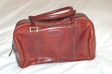 Oroton Vintage Australian  Brown Leather Hand Bag Zipper Closure