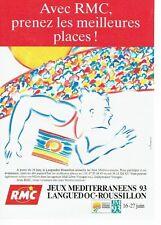 PUBLICITE ADVERTISING 0217  1993   radio RMC Monte Carlo jeux méditerranéens lan