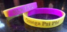 SALE! Omega Psi Phi Multi Color Wristband: Armband:  Purple and Gold!