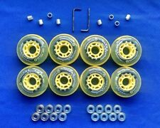 Rollerblade Inline Hockey Fitness Skate Wheels 76mm 82A Spacers ABEC 9 Bearings