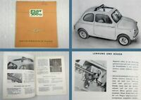 Fiat 500 D Betriebsanleitung Bedienungsanleitung 05/1964