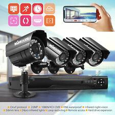 KKMOON 4Channel 1080P DVR Home Outdoor CCTV Security Camera System G3I8