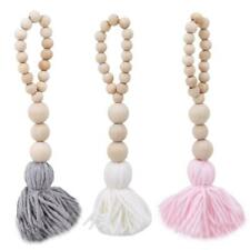 Home Decor Wooden Beads String Tassel String Wall Tent Room Hanging Decoration W