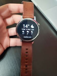 Motorola Moto 360 2nd Gen Mens 46mm Stainless Steel brown leather Smart Watch