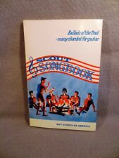 BOOK Boy Scouts SCOUT SONGBOOK BALLADS OF THE TRAIL - MANY CHORDED FOR GUITAR