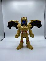 """Imaginext 2015 Mattel Goldar Power Rangers Action Figure Warrior Wings 10"""" Tall"""