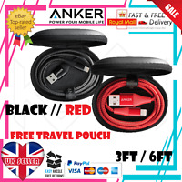 Anker Powerline II+ Nylon Braided Micro USB to USB Android Fast Charging  3/6ft