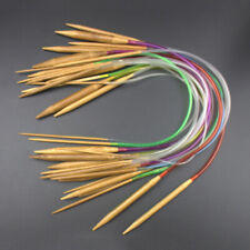 18 pcs/set Tube Circular Carbonized Bamboo Knitting Needles 40cm-120cm