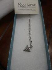 touchstone crystal Swarovski necklace with pyramid pendant