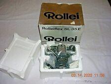 ROLLEIFLEX SL35E SL35 E Camera Black ROLLEI-HFT Planar 50mm f1.8 Lens in box