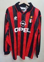 Maglia calcio Milan Lotto Opel vintage 90 shirt camiseta maillot soccer Milan