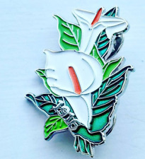 New Easter Lily Flower Enamel Pin Badge - Irish Republican Rebel 1916 Rising IE