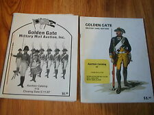 Golden Gate Militaria AUCTION Catalogs 1985/1987